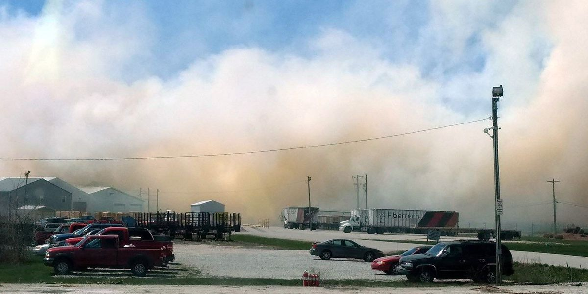 Lawrence Co. fire blazes, expected to burn into the night