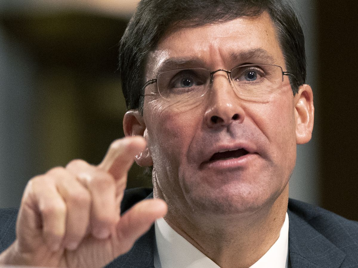 Esper is sworn in as defense secretary to succeed Mattis