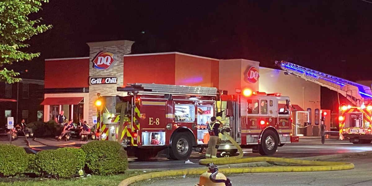 Fire reported at Dairy Queen on Goldsmith Lane