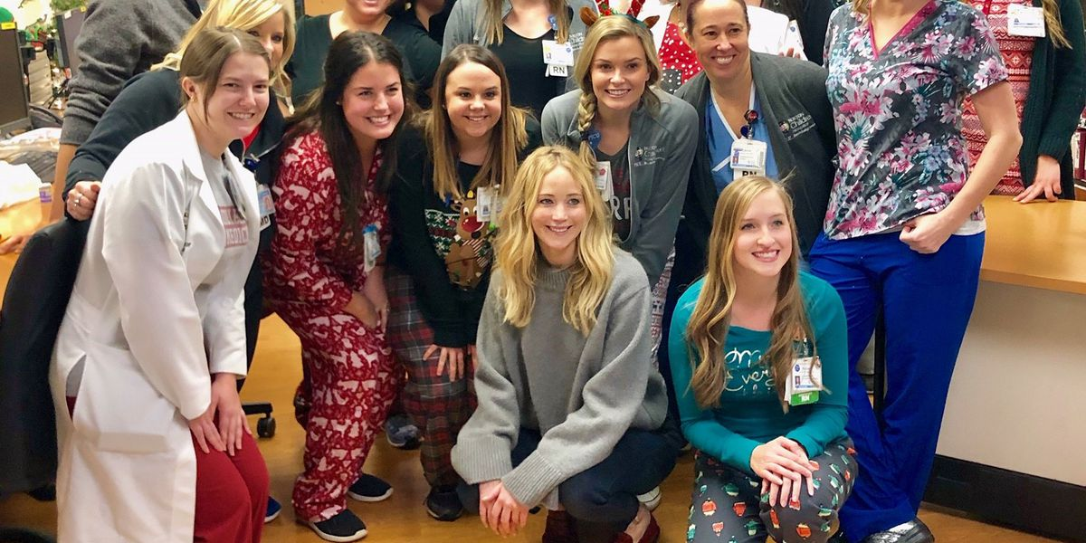 Jennifer Lawrence visits Norton Children's Hospital as part of annual tradition