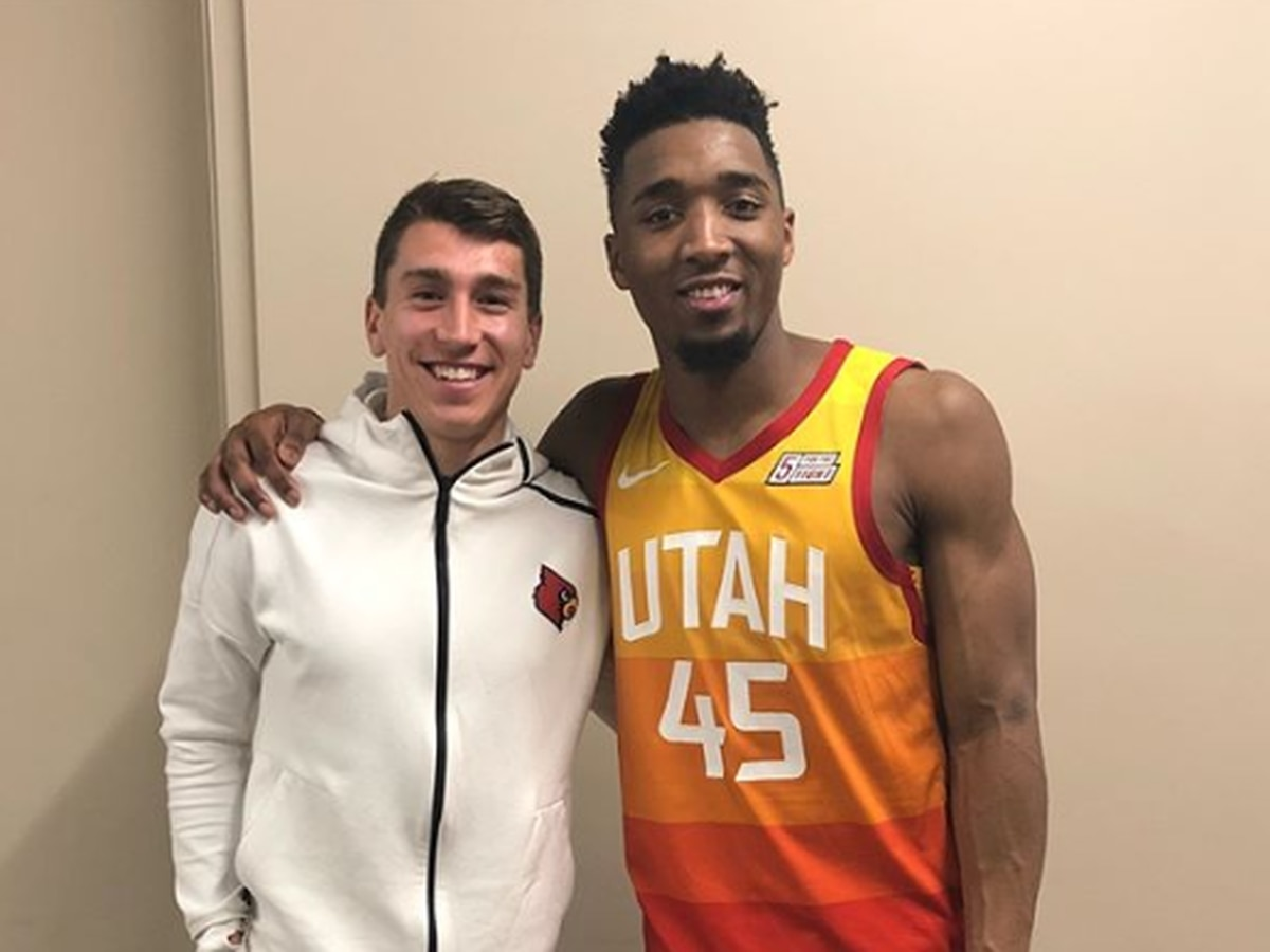 Donovan Mitchell excited to have fellow UofL alum turned pro-athlete in town