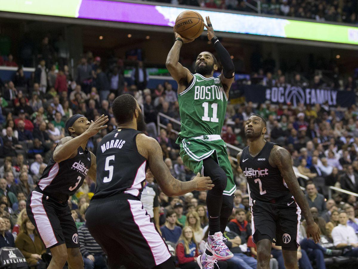 Irving scores Boston's last 12 in 130-125 OT win at Wizards