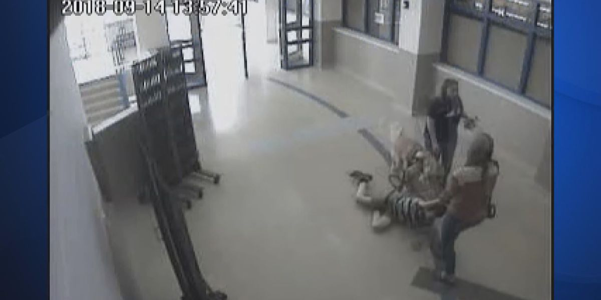 Child with autism dragged down school hallway, video shows