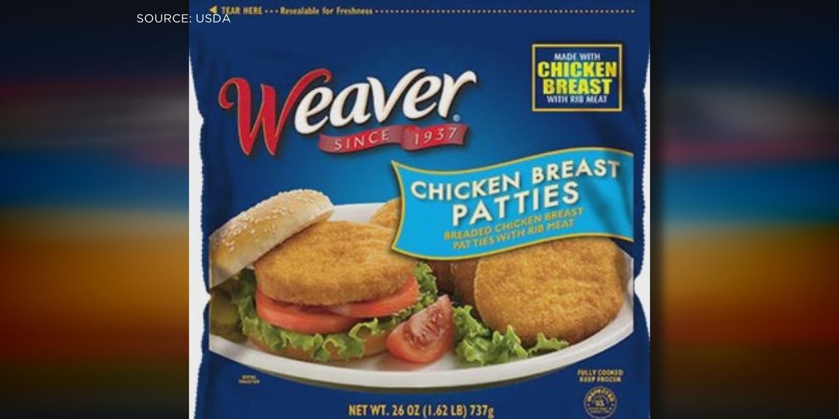 Chicken patties made by Tyson Foods recalled