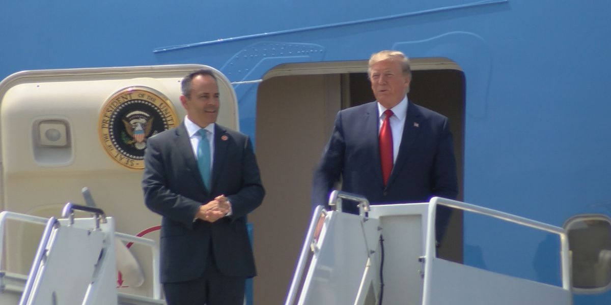 Trump headlines private Bevin fundraiser during short visit