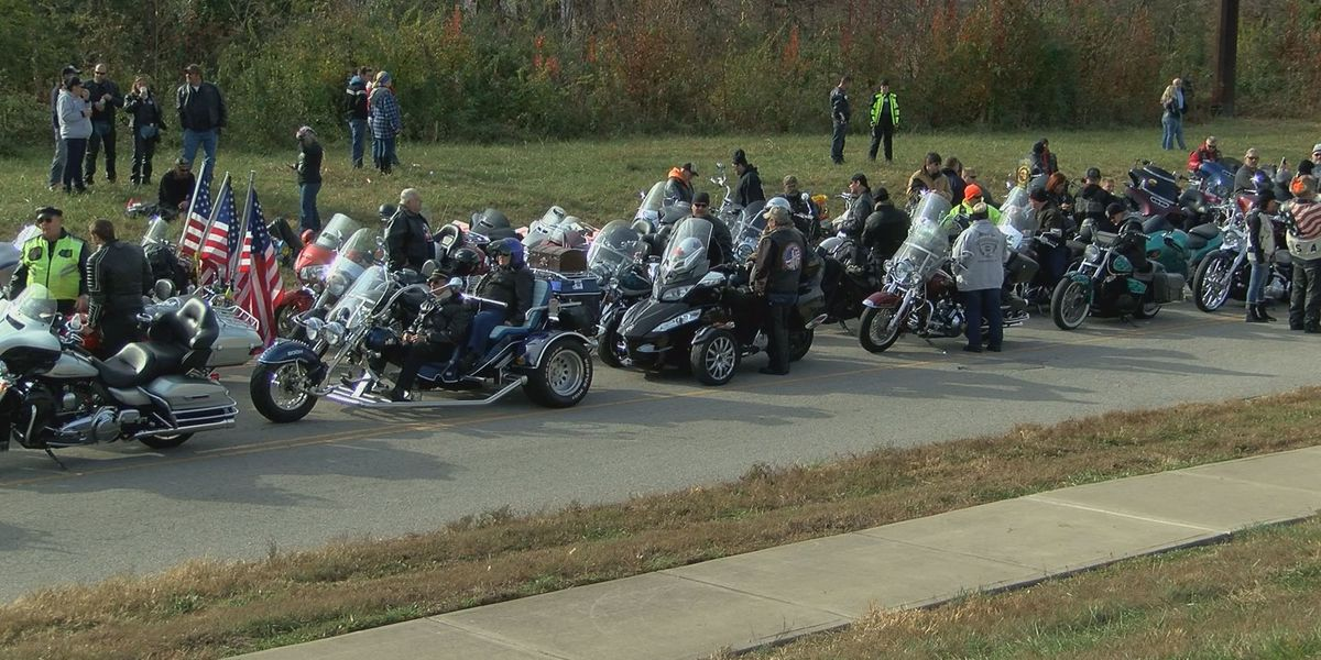 Motorcyclists ride through Louisville for charity