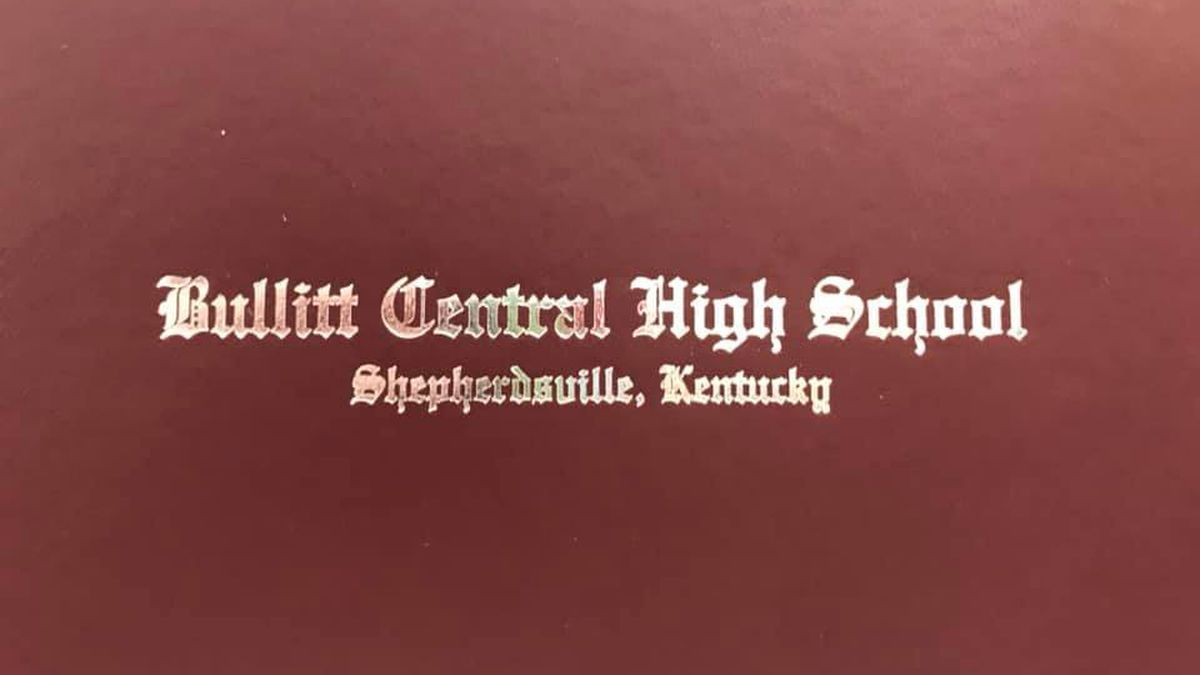 Corrected diploma covers ready for pickup at Bullitt Central High School