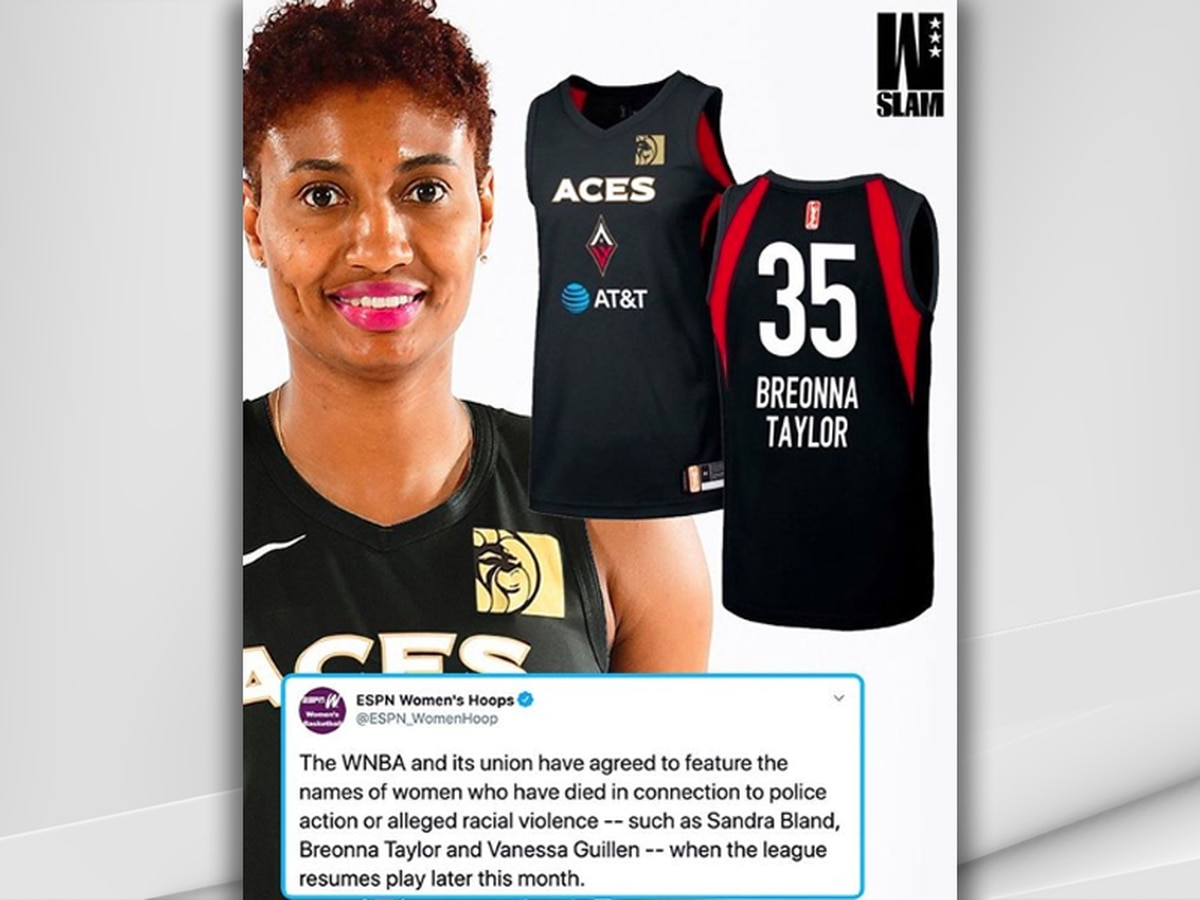 Report: Breonna Taylor to be honored on WNBA uniforms