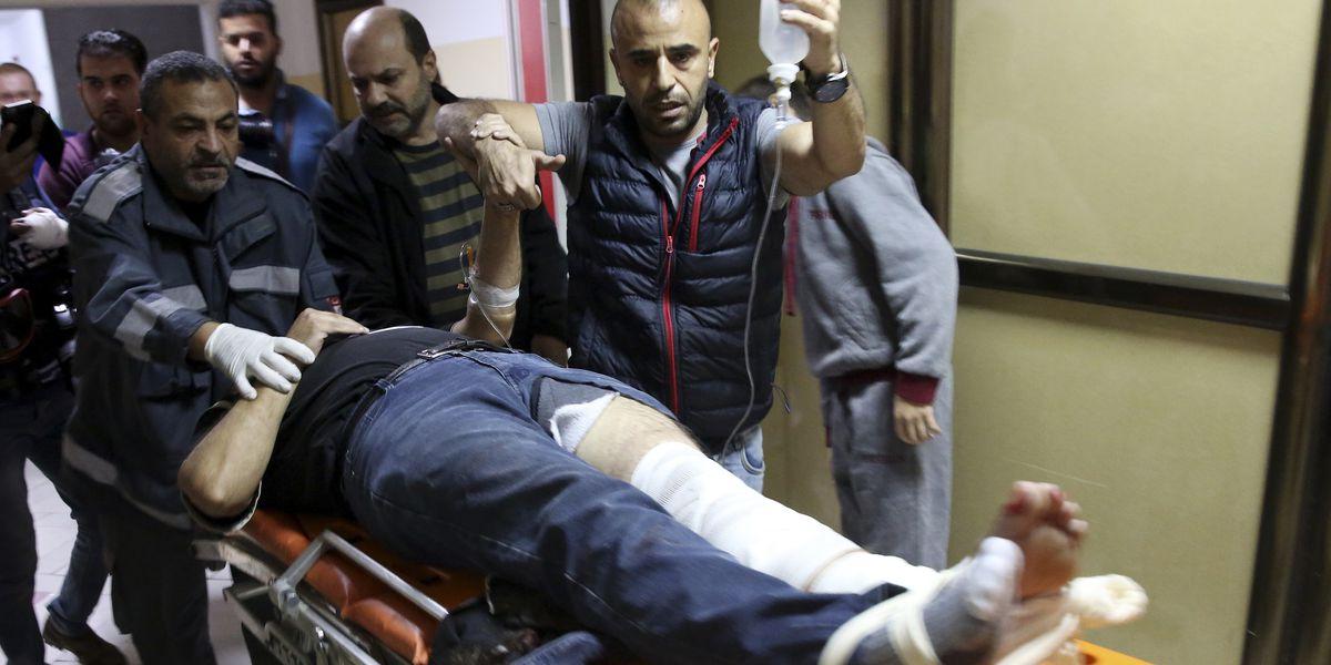 AP cameraman shot during Gaza protest