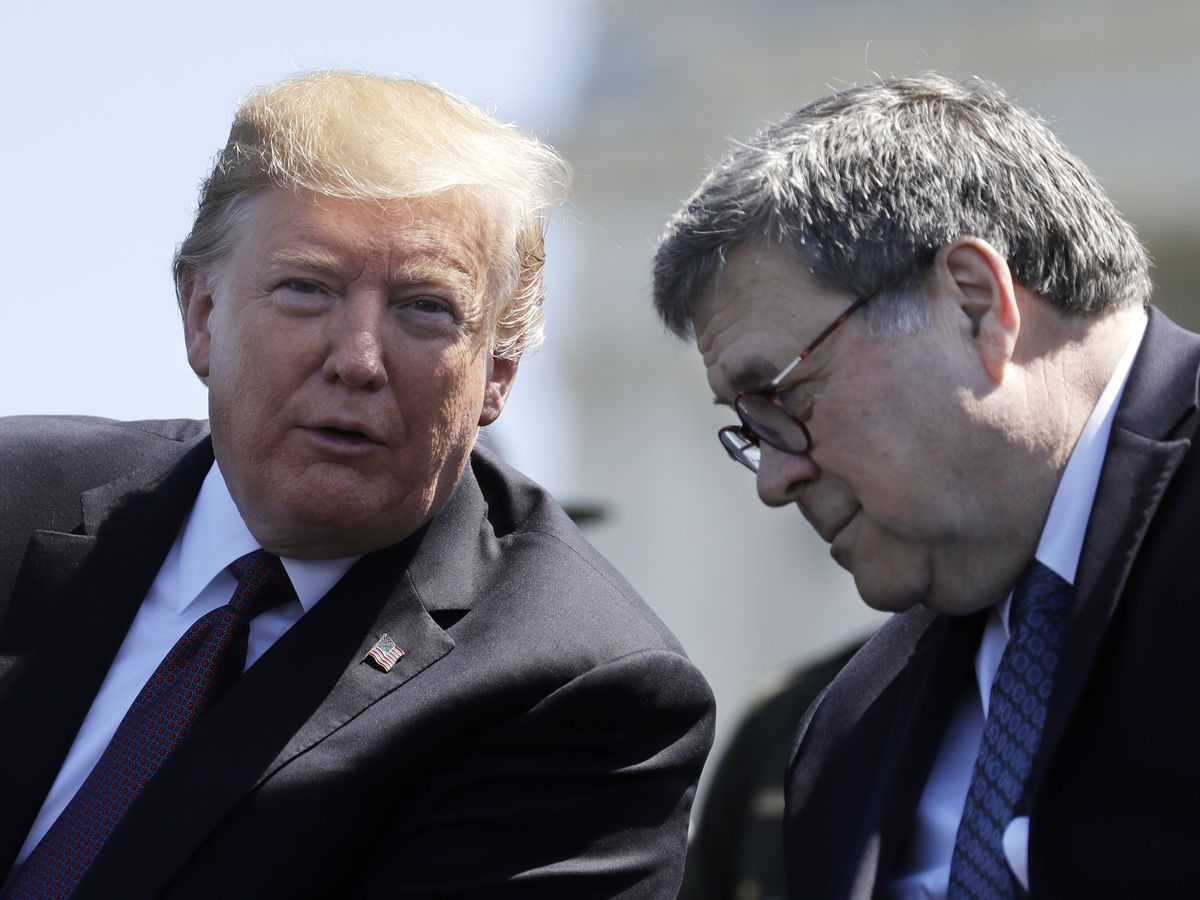 Trump expands Barr power over classified Russia probe info