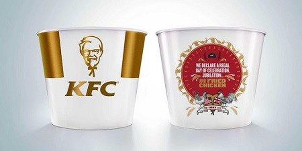 KFC releases special Royal wedding themed bucket