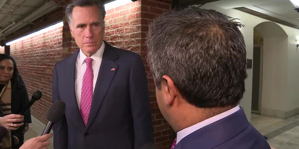Romney says he wants to hear Bolton's testimony in re: impeachment