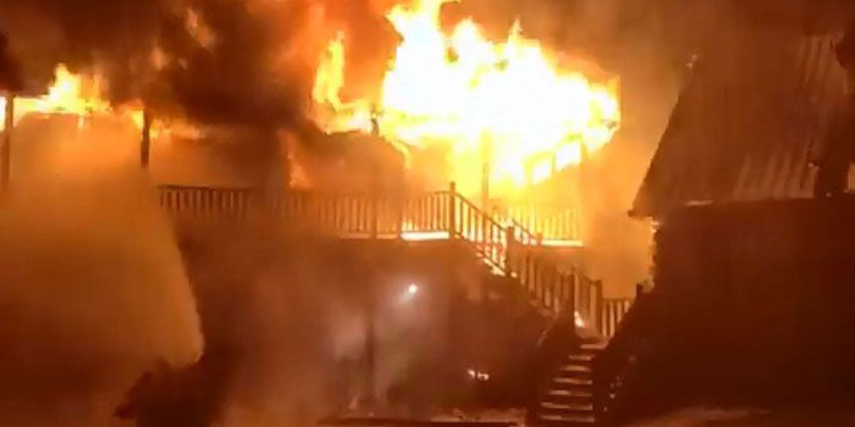 Family safe after fire damages home overnight