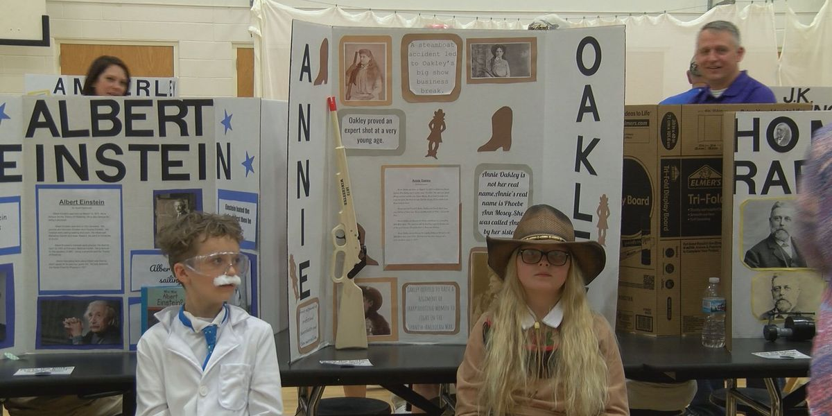 End-of-year project turns school into wax museum