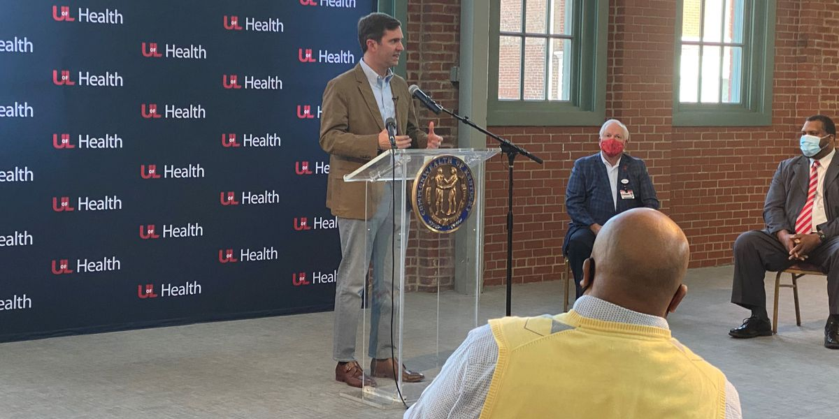 UofL Health hosts largest vaccine clinic alongside Governor Beshear