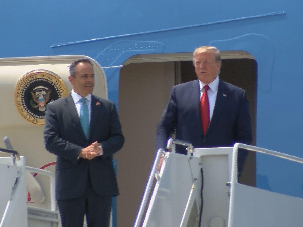 Trump headlines private Bevin fundraiser during short visit