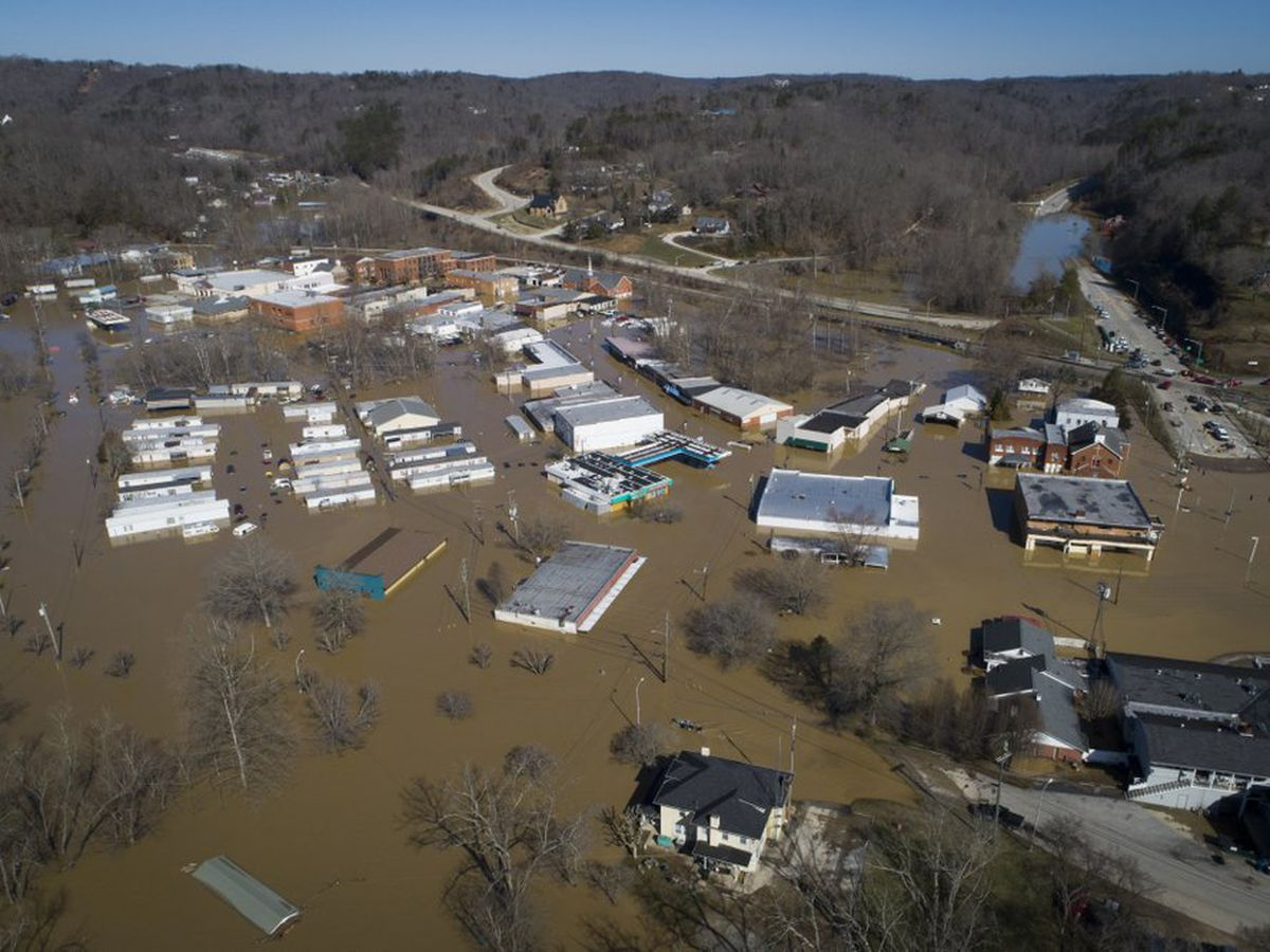 Kentucky seeking federal help as floodwaters cause damage