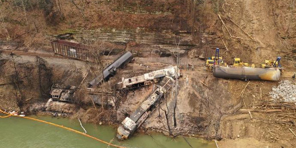 Crews making progress on cleanup of Pike County train derailment