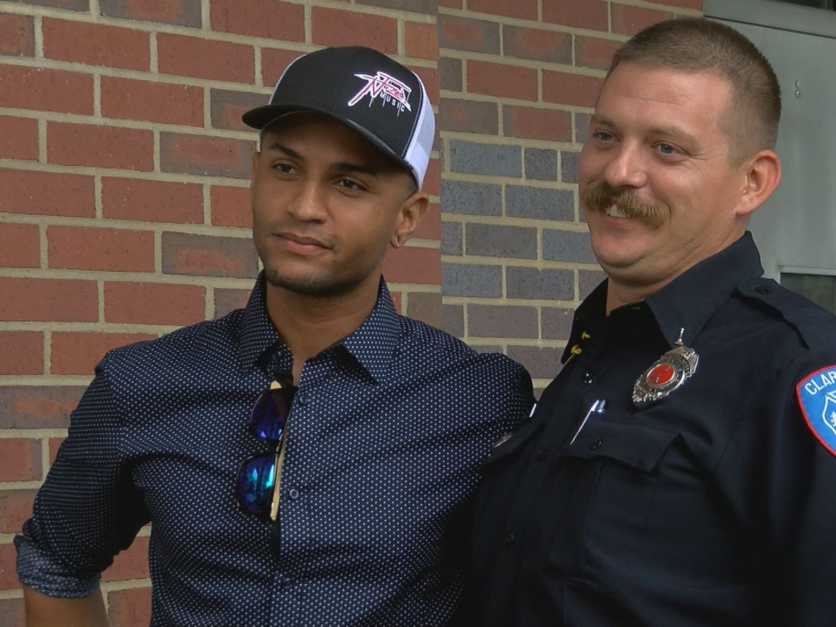 Clarksville firefighters reunite with man they rescued from Ohio River