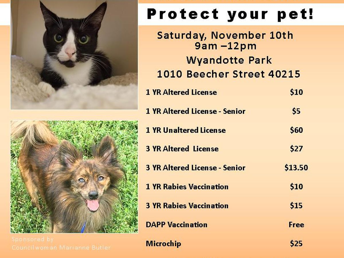LMAS encouraging pet owners to take advantage of low-cost rabies vaccination clinic