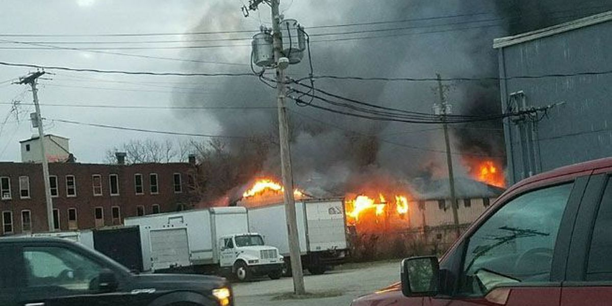 New Albany firefighters stop blaze at historic Moser Tannery