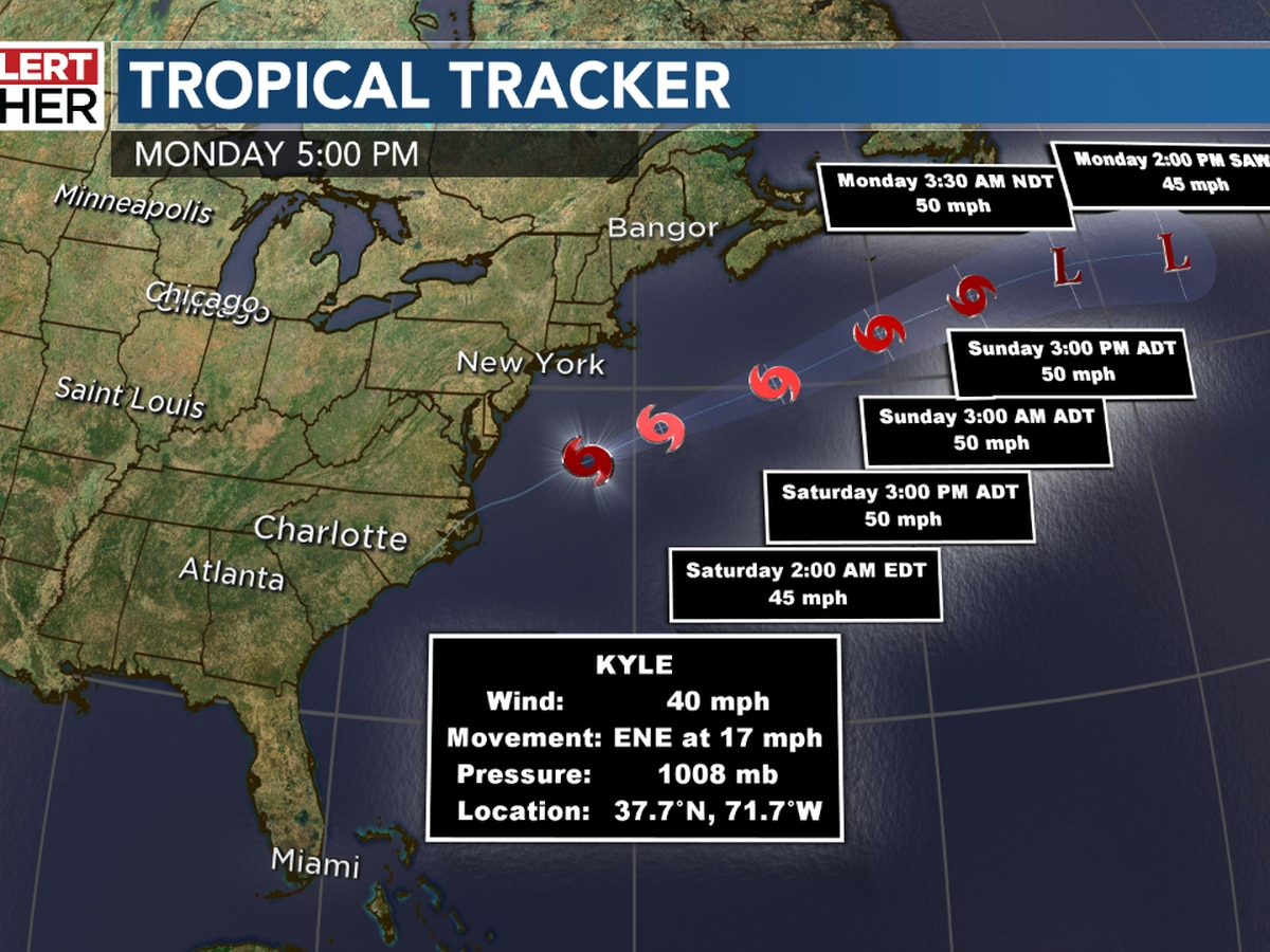Tropical Storm Kyle Forms Setting New Record In 2020 Atlantic Hurricane Season