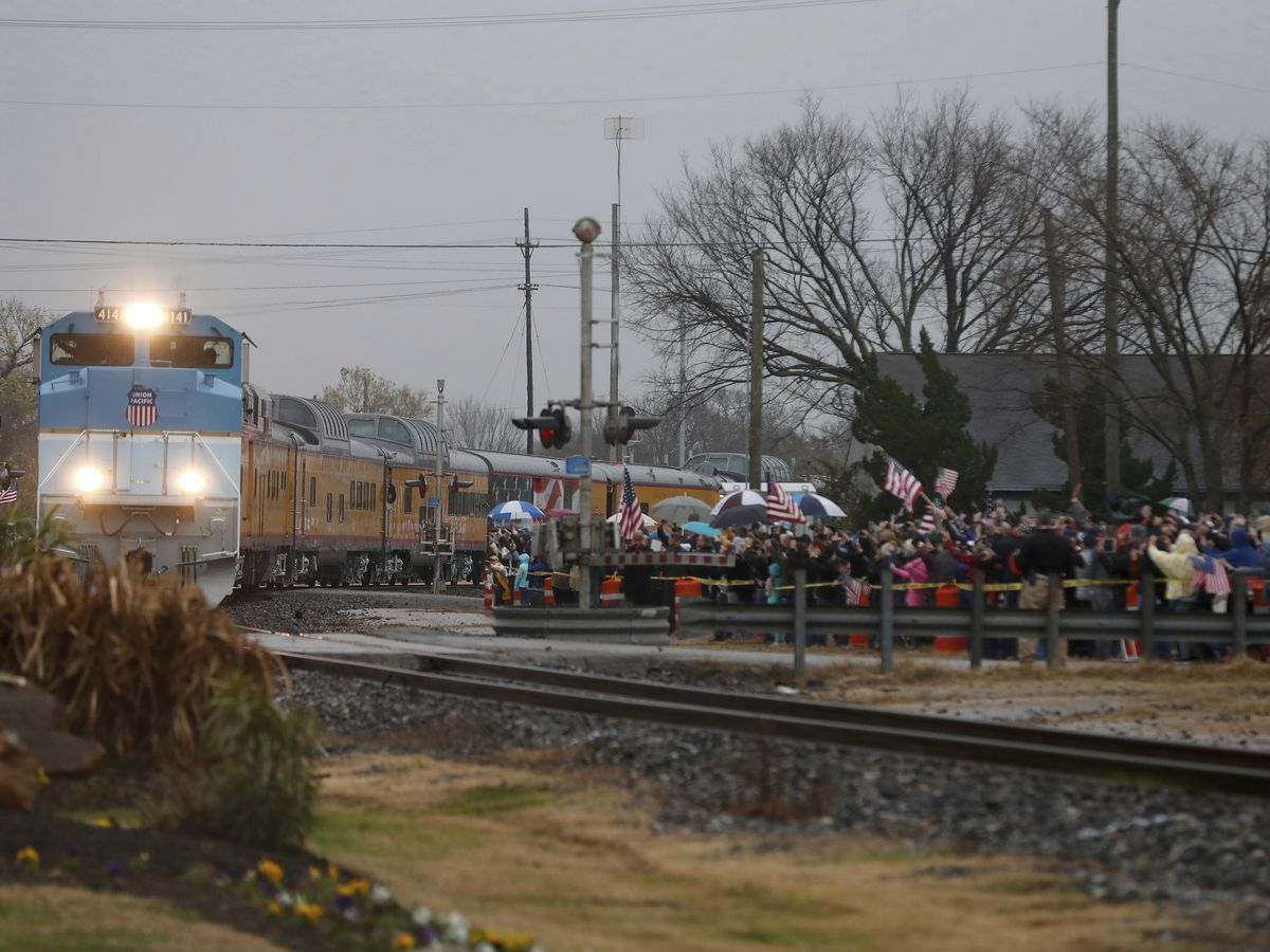 George HW Bush laid to rest in Texas