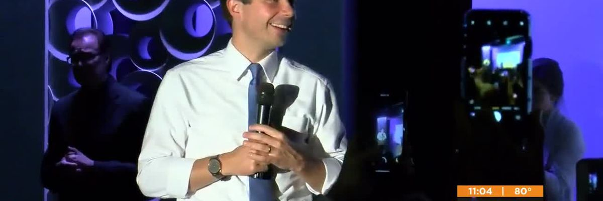 Presidential candidate Pete Buttigieg campaigns in Louisville