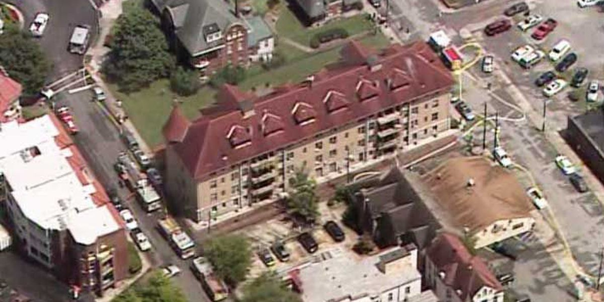 Officials: Fire at Cherokee Triangle apartment caused by lightning strike