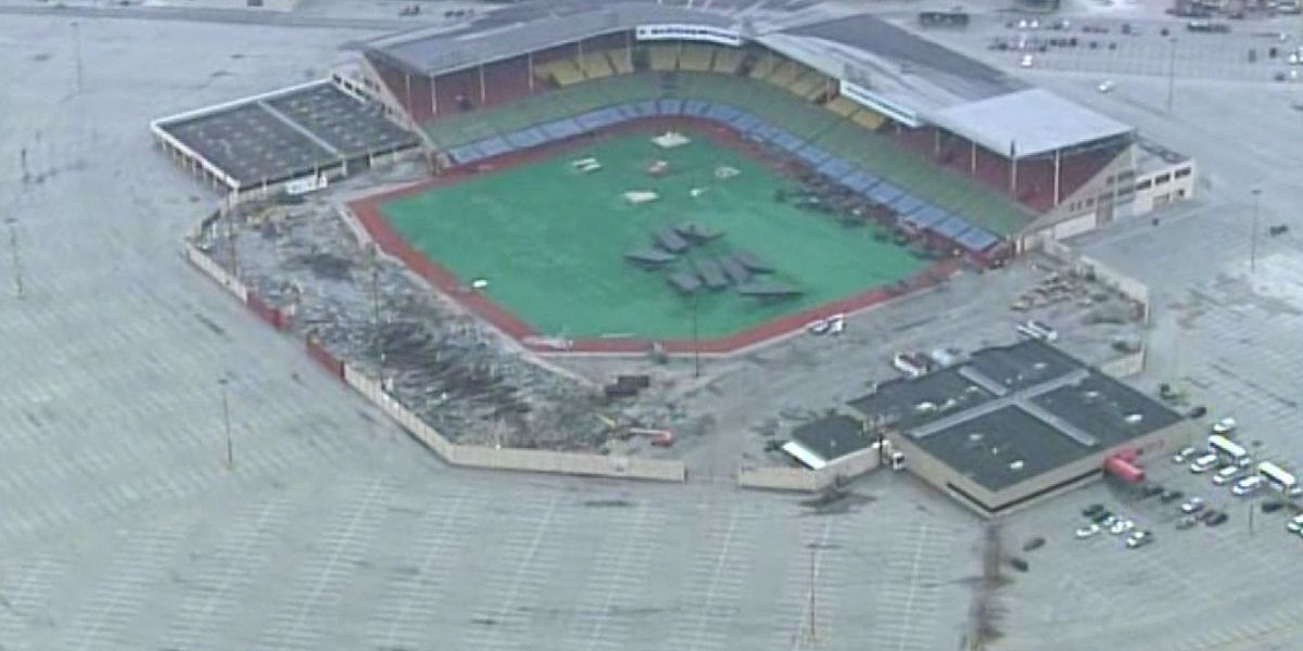 Demolition begins at Old Cardinal Stadium