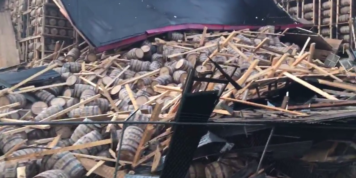 Part of rickhouse collapses at O.Z. Tyler Distillery in Owensboro