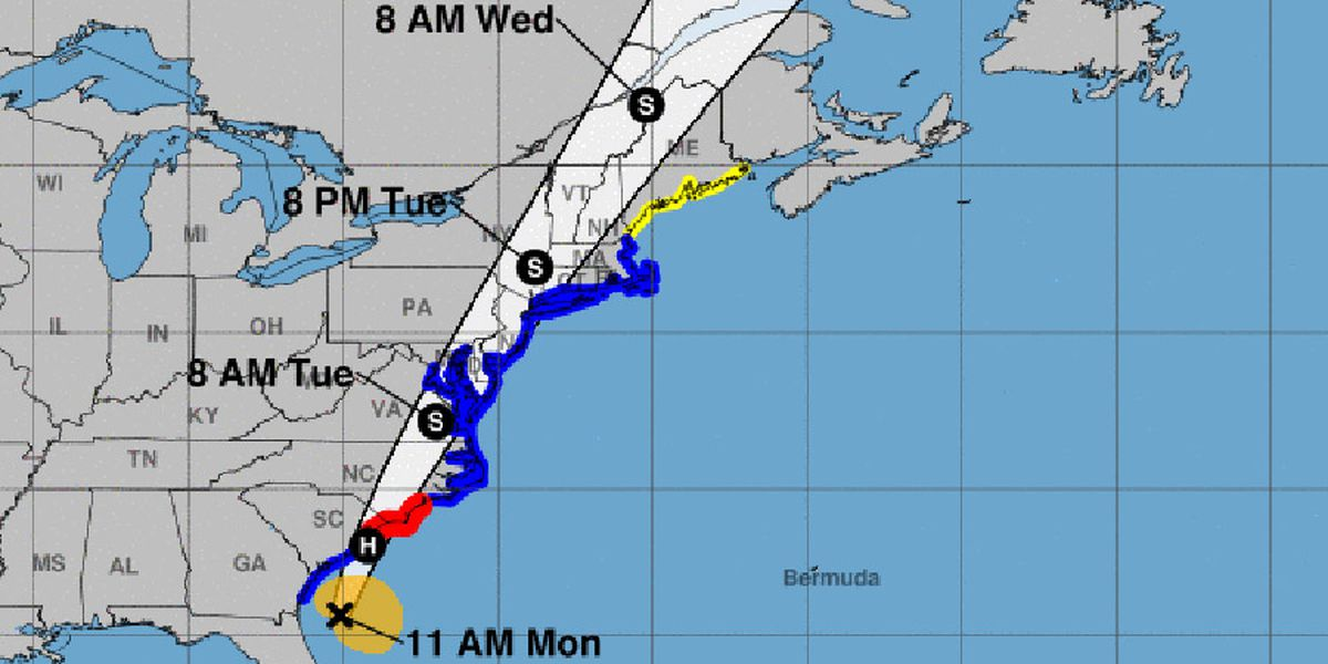Isaias nears hurricane strength as it crawls toward Carolinas