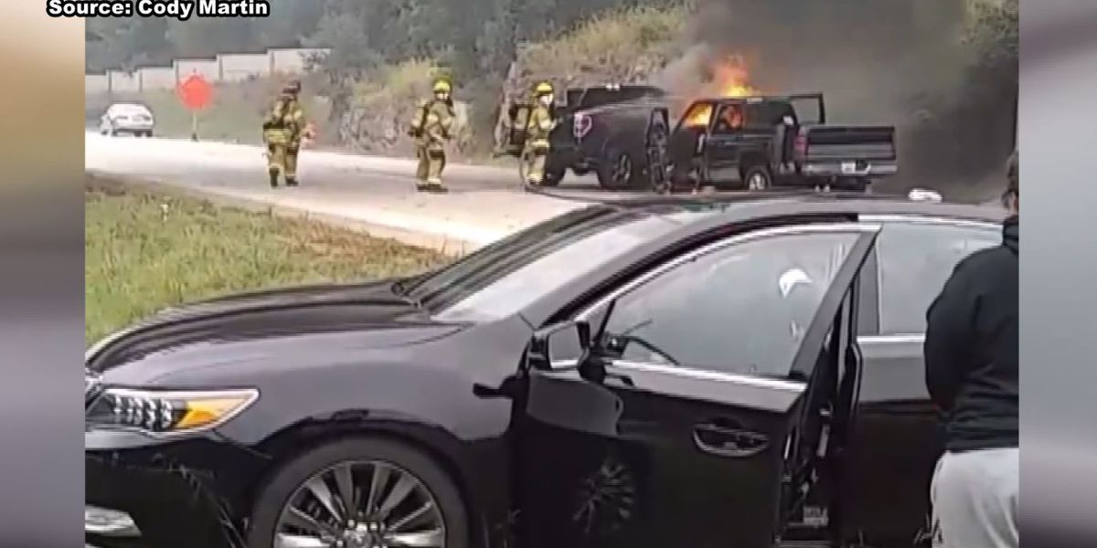 Louisville drivers rescue unconscious man from burning car