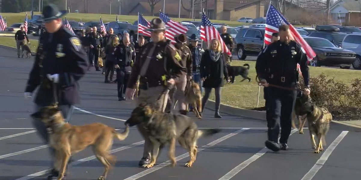 Indiana K-9 units pay respects to fallen Charlestown officer