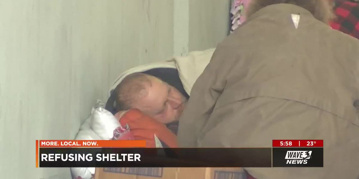 Some of Louisville's homeless prefer to stay in cold than low-barrier shelter
