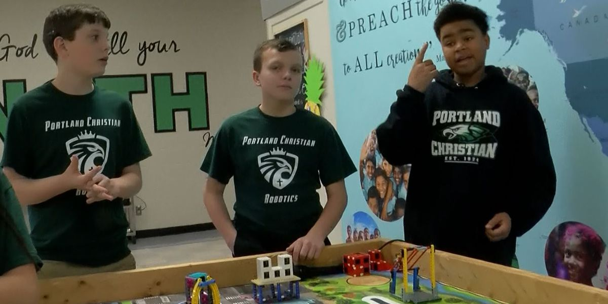 Portland Christian School robotics team invention helps accessibility in community