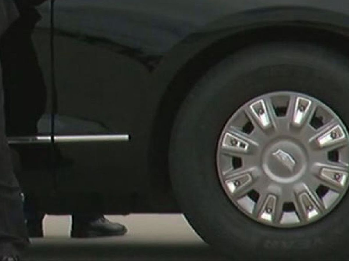President Donald Trump's limo still has Akron-based Goodyear tires despite calls for boycott, promise to remove