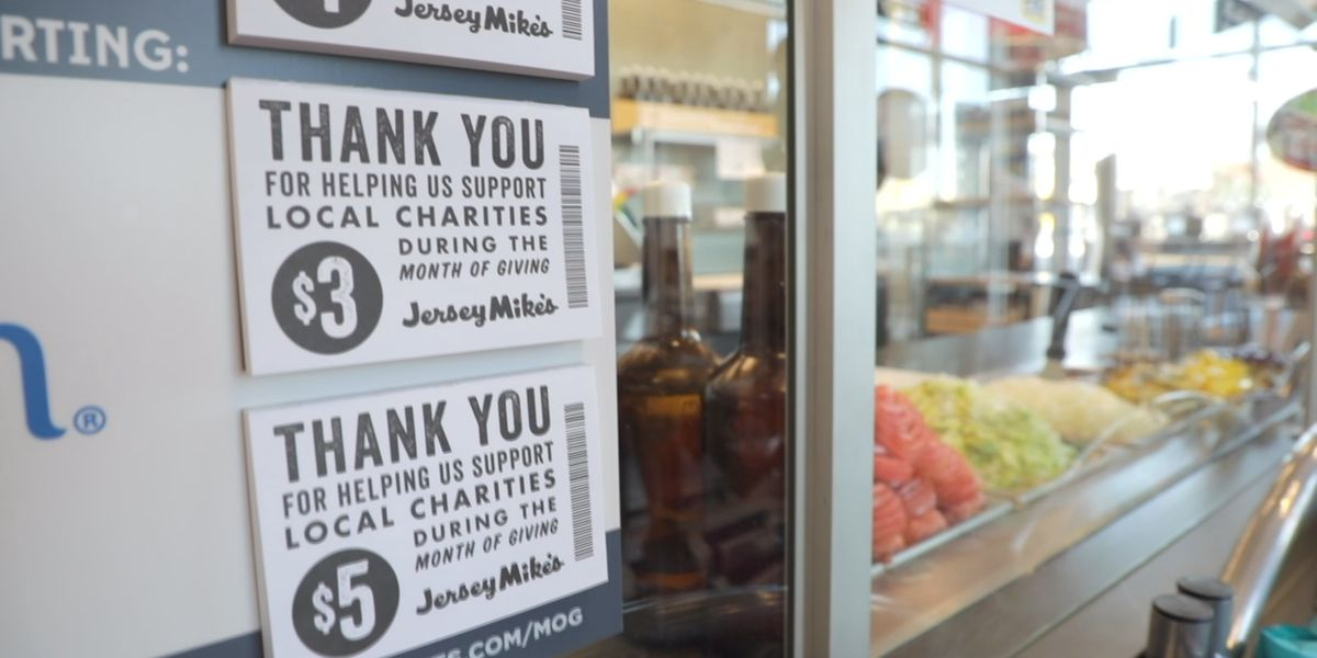 100 percent of sales at Jersey Mike's helping grant children's dreams in Louisville
