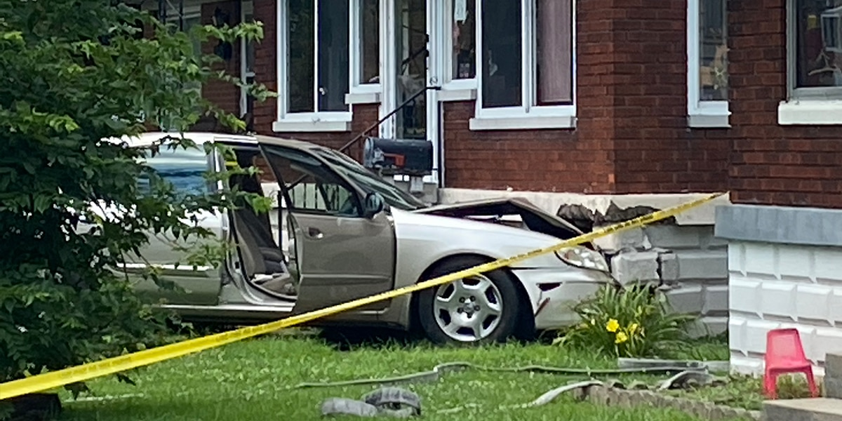 Car crashes into home on Taylor Blvd. in Louisville