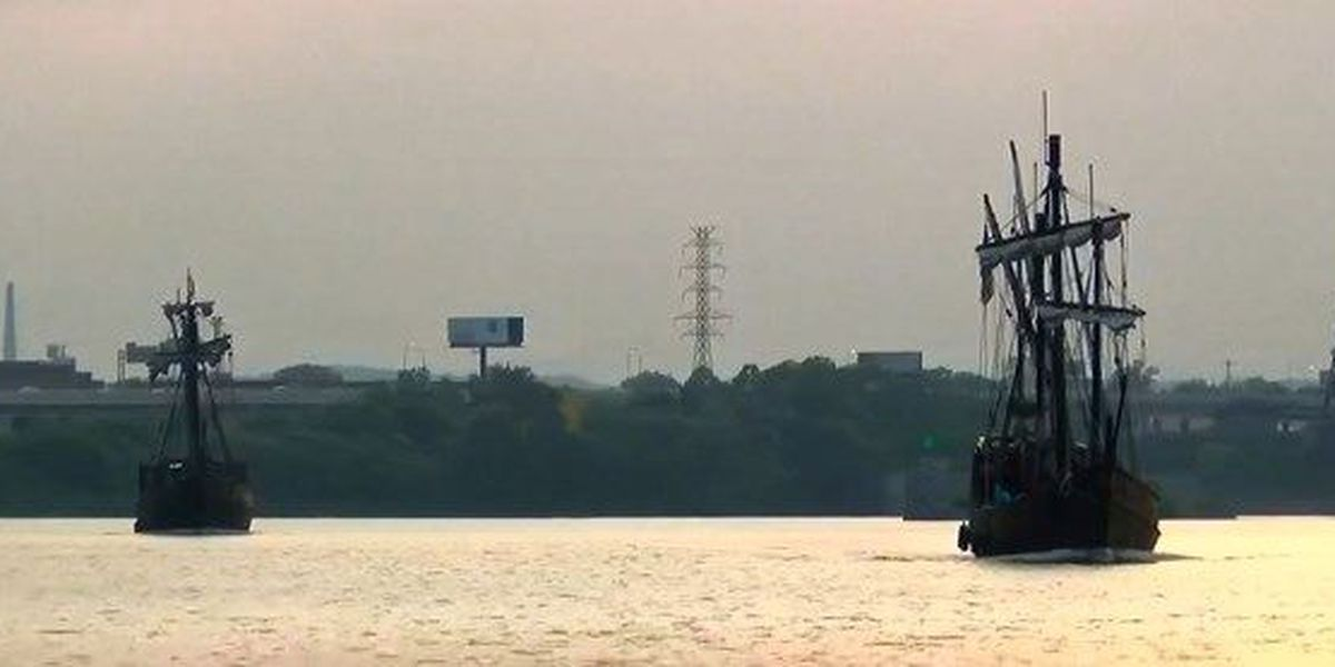 Replica Christopher Columbus ships arrive in Louisville