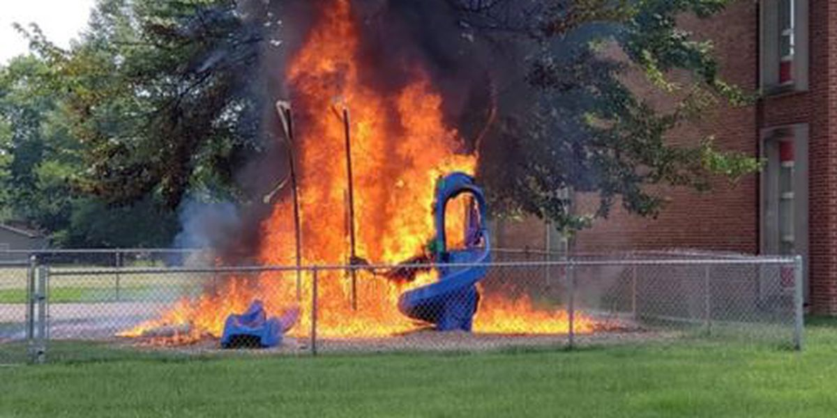 Arson destroys JCPS playground