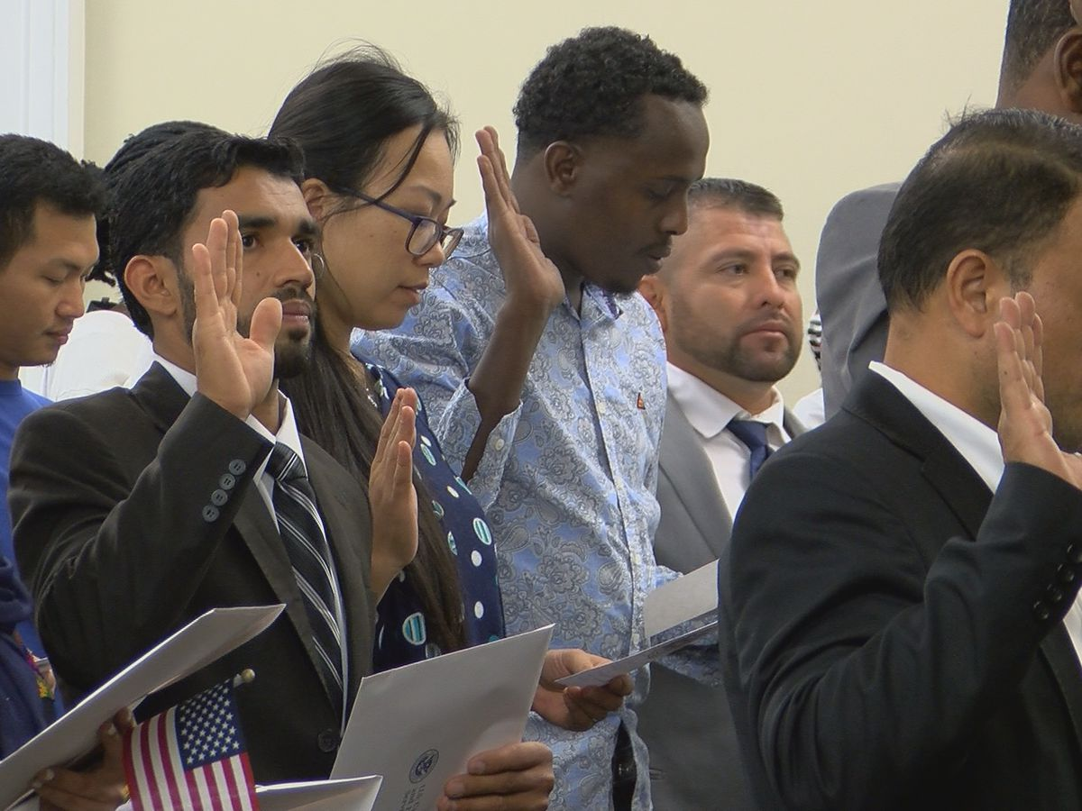 Dozens of people become naturalized citizens