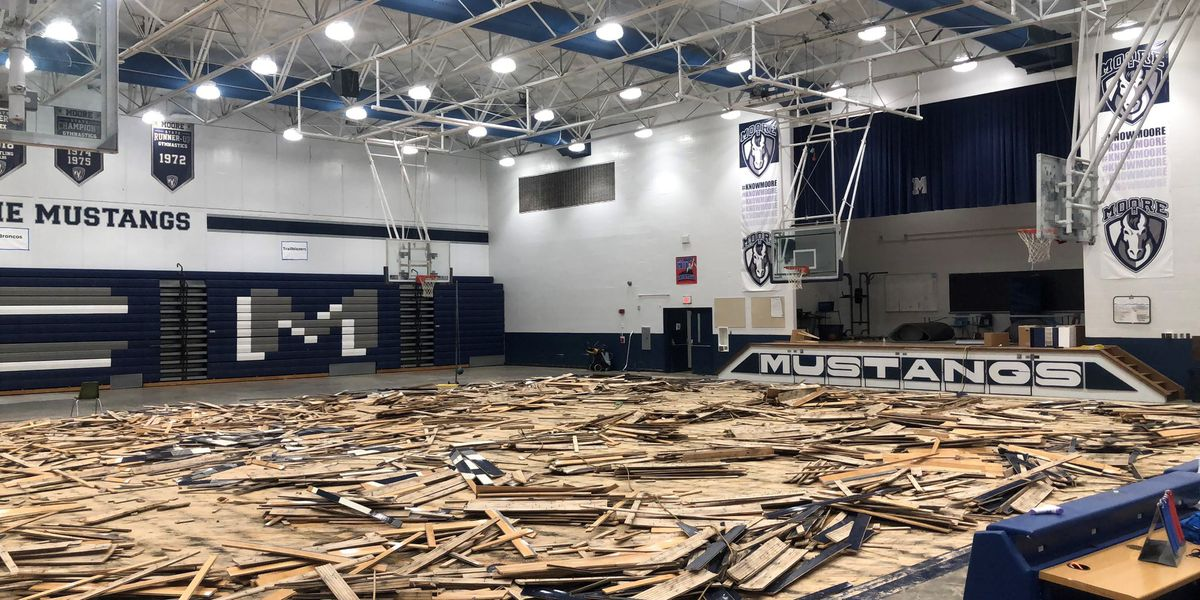Marion C. Moore's gym floor, foundation ruined after pipe burst