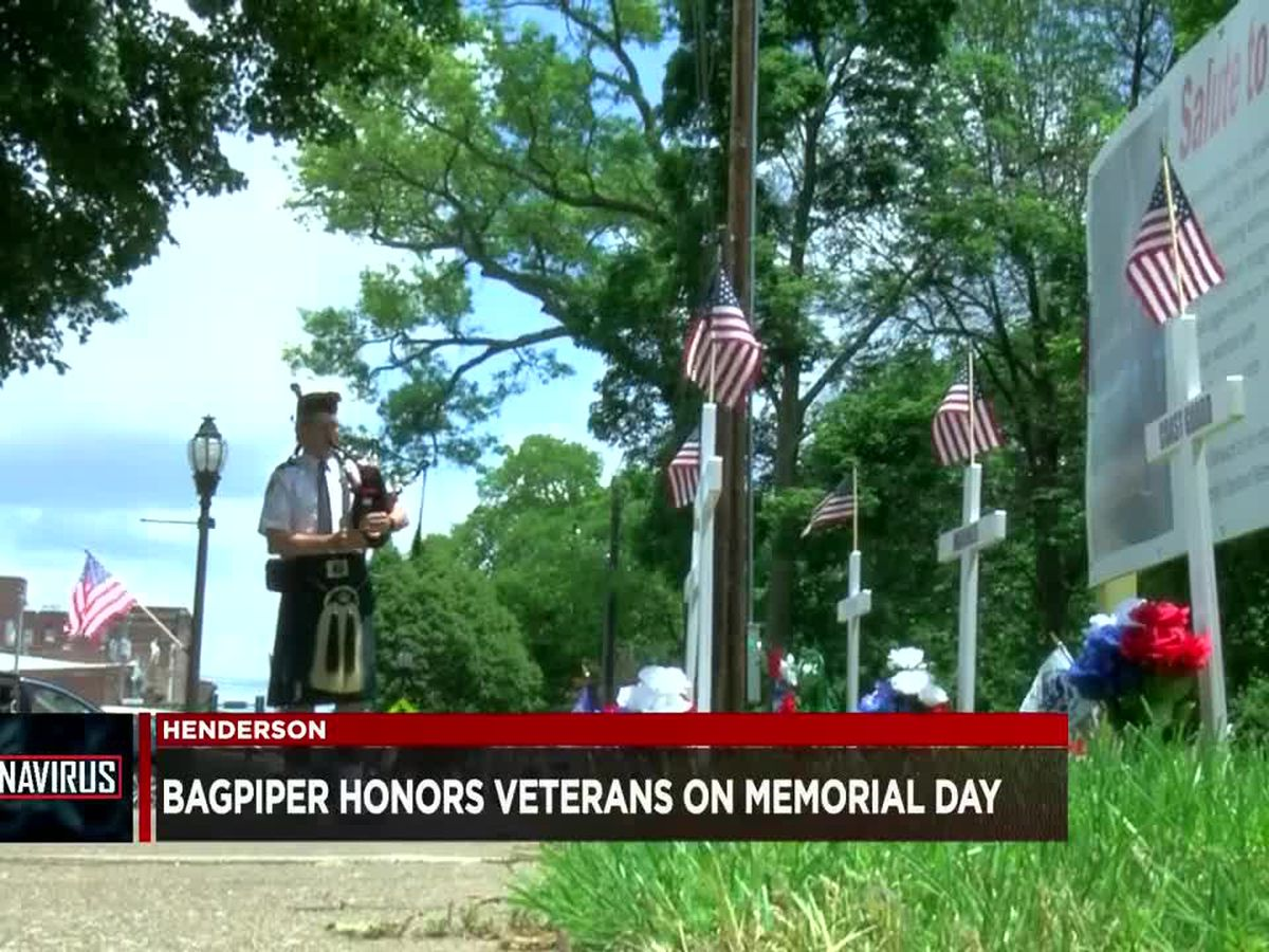 Henderson bagpiper honors veterans on Memorial Day