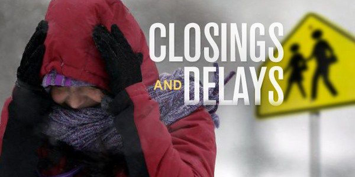 UPDATED: See the latest closings and delays