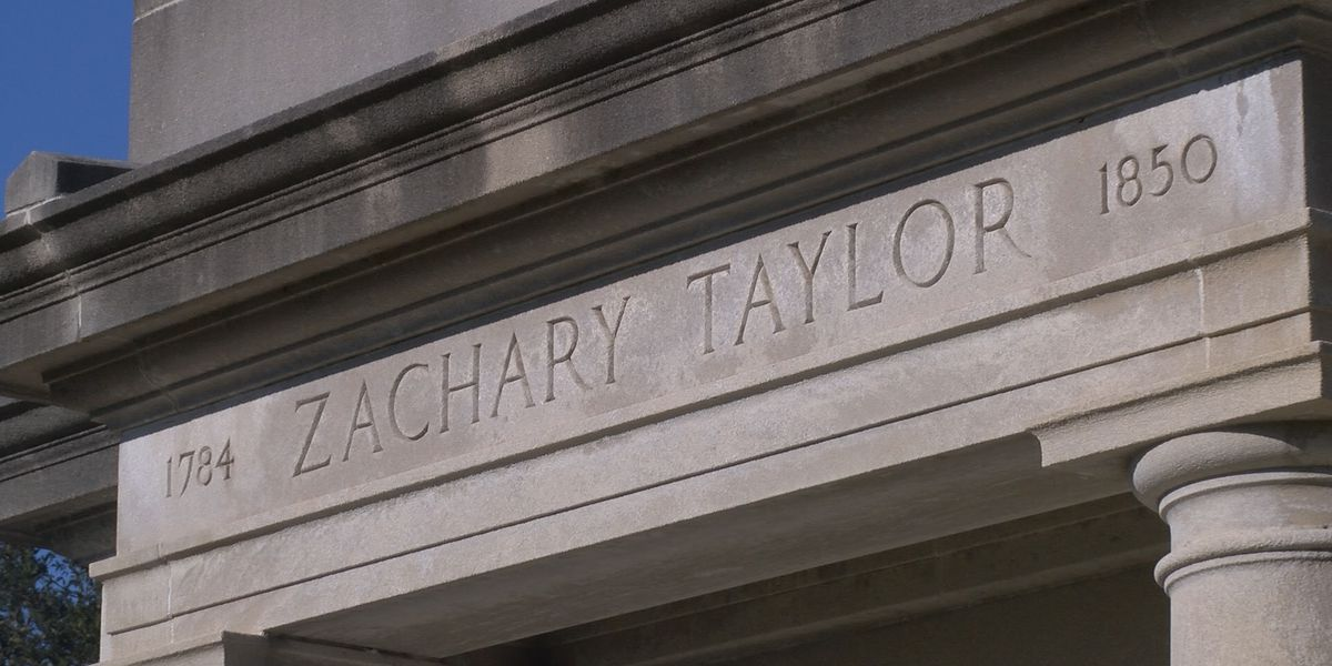 Convoy travels to Zachary Taylor National Cemetery