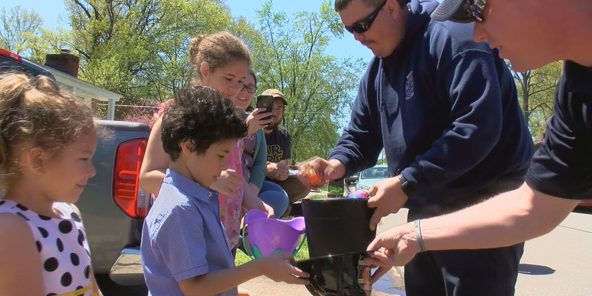 Clarksville FD hand delivers Easter eggs after original event cancelled