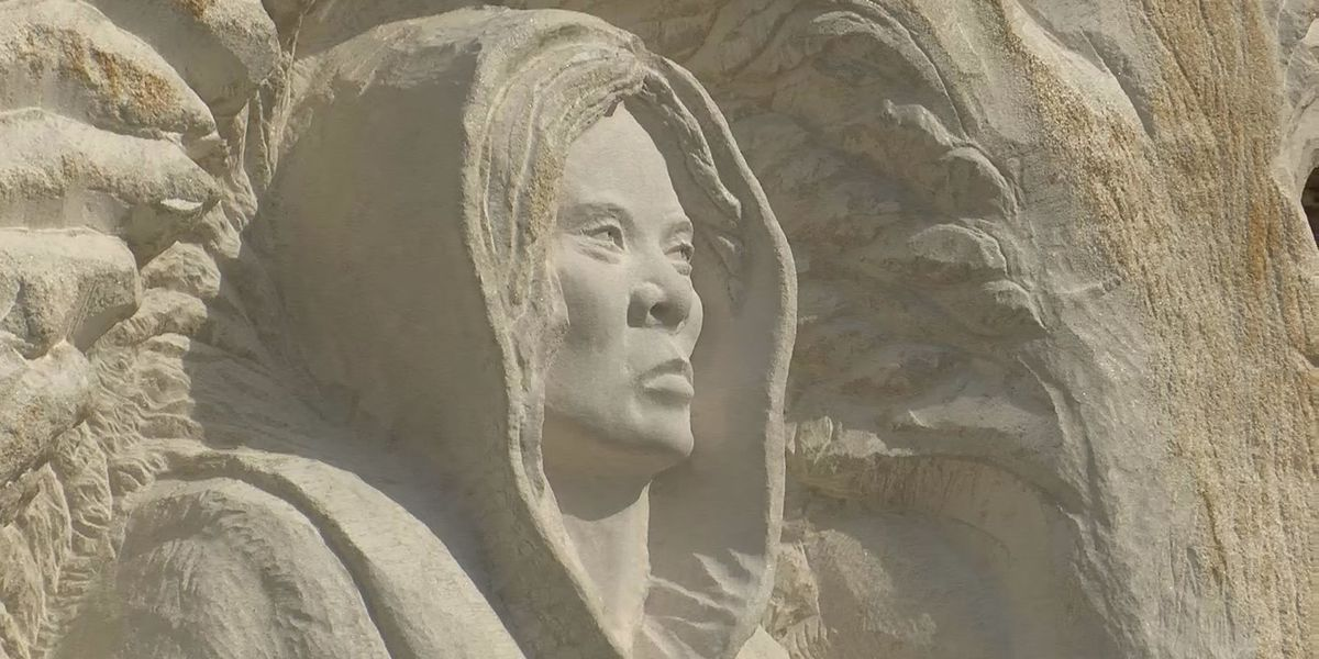 Sculpture honors runaway slave, Civil War hero outside New Albany church