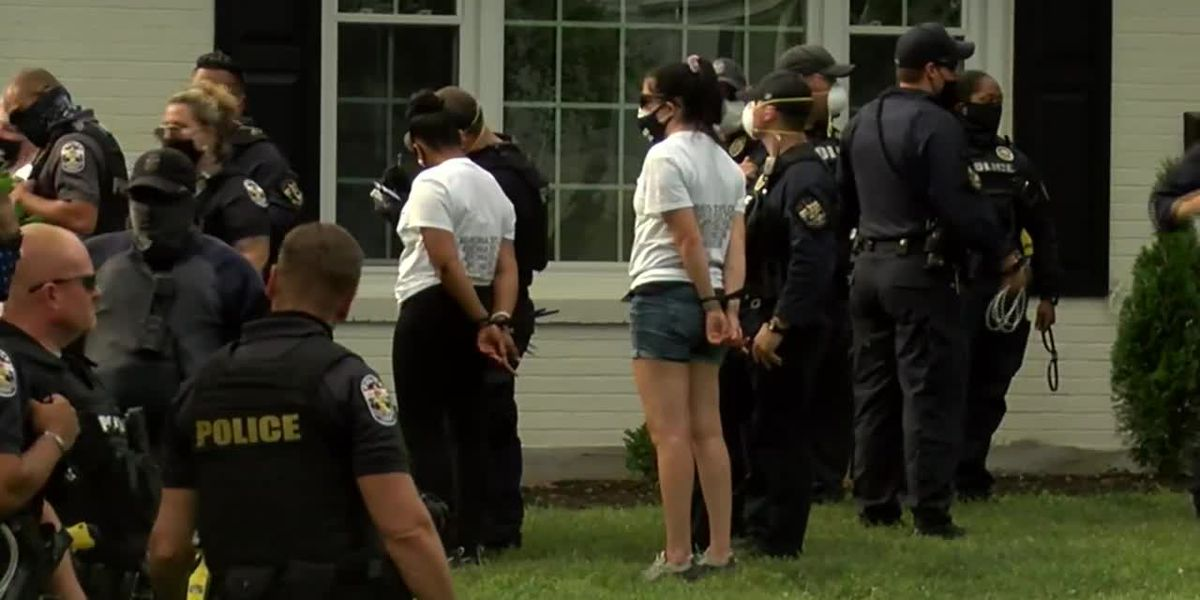 LMPD defends felony charges following protest at Kentucky AG's house