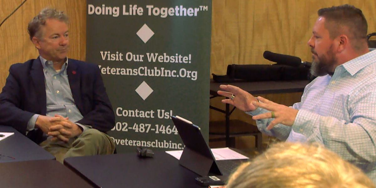 Veterans Club meets with Sen. Rand Paul, state officials seeking funding for Camp Restoration project